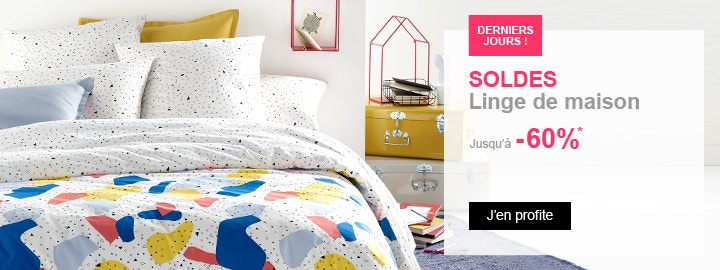 solde la redoute linge de maison finest linge de lit soldes draps de lit soldes linge de lit. Black Bedroom Furniture Sets. Home Design Ideas