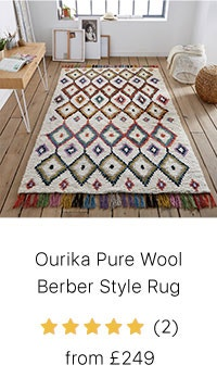 Ourika Pure Wool Berber Style Rug