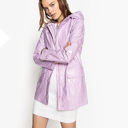 Waxed Hooded Raincoat