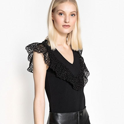 Lace Panel Vest Top