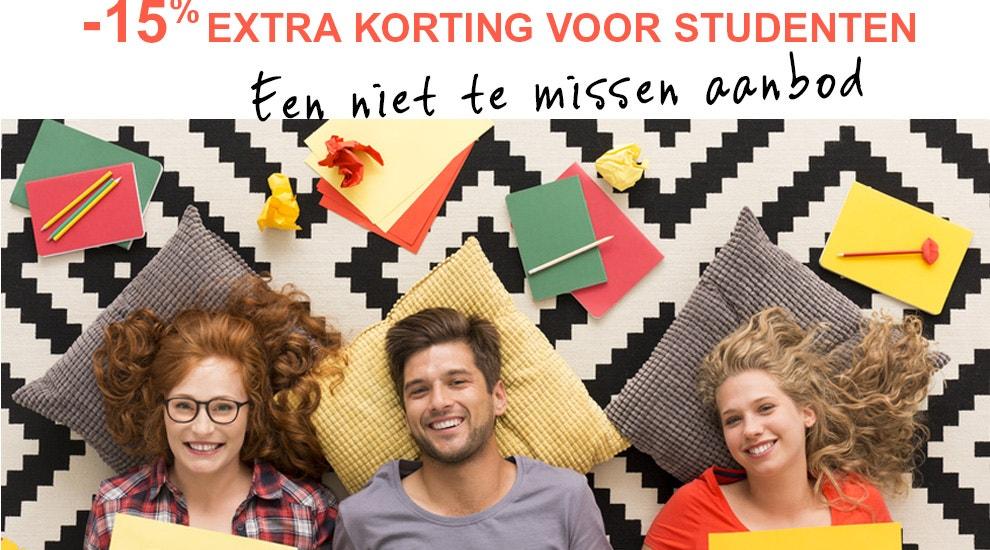 -15% extra korting voor studenten