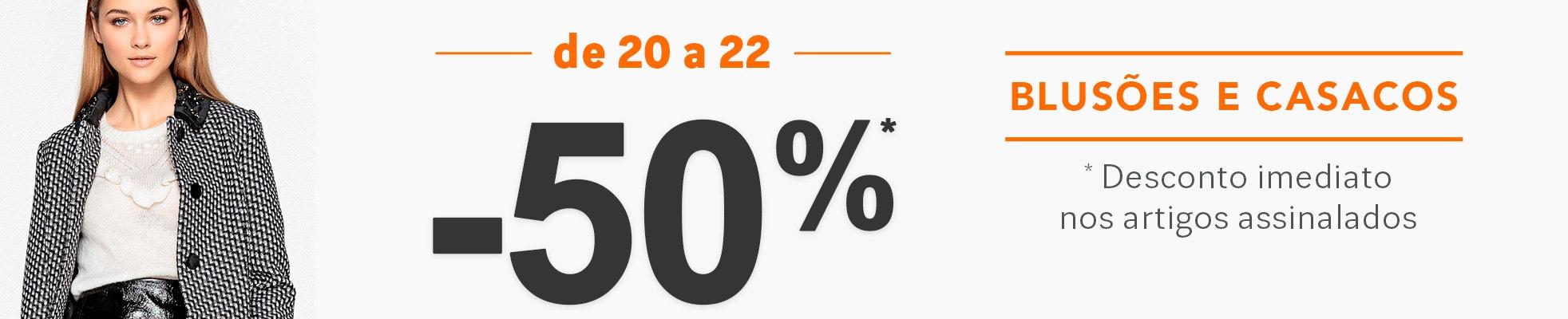 Descontos de -50% numa seleção