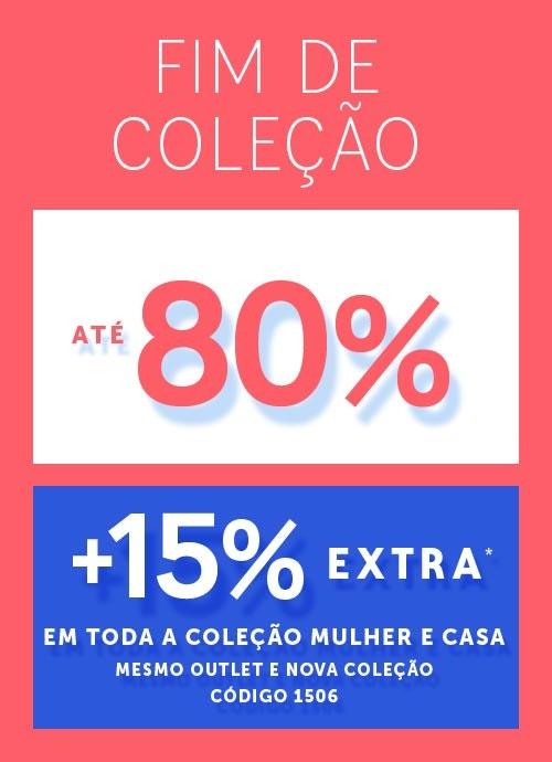 Reduções até -80% +15% EXTRA com código 1506