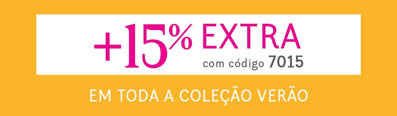 até 70% + 15% extra