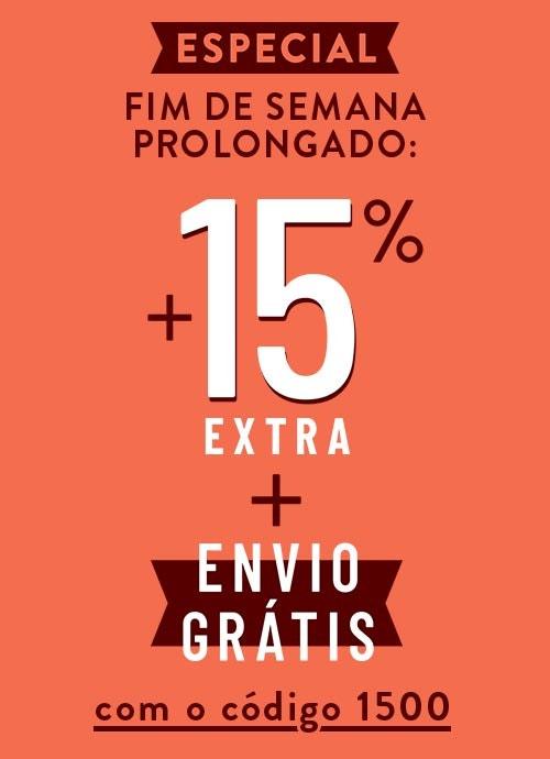 Especial: Fim de Semana até -60% +15% Extra +Envio Grátis!