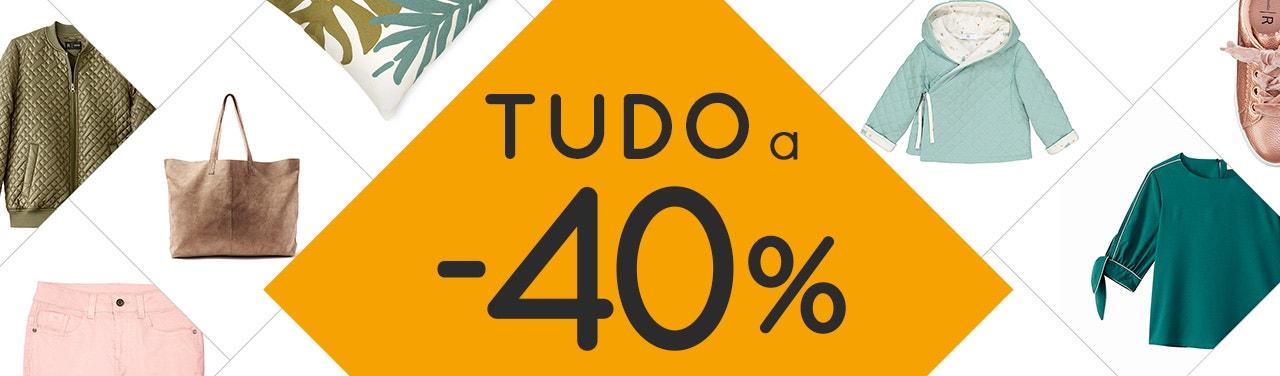 Moda e Têxtil-lar Tudo a -40%