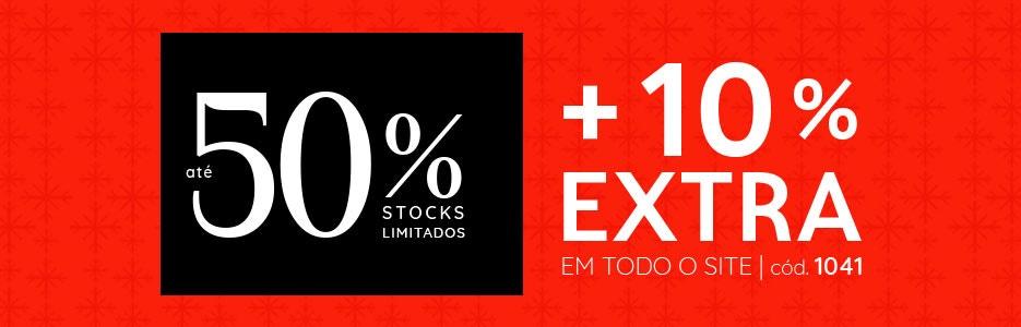 até 50% +10% EXTRA com o código 1041