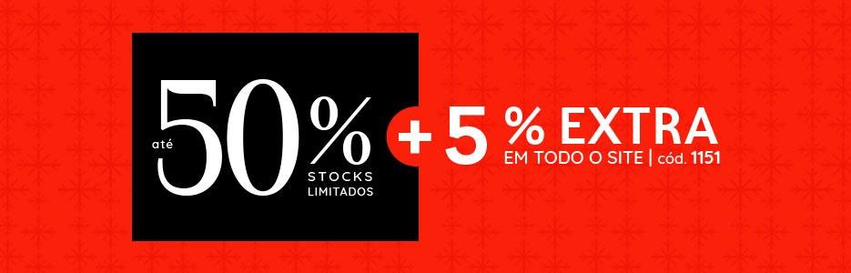 até 50% +5% EXTRA com o código 1151