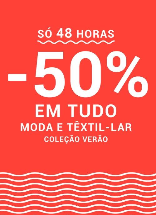 -50%* EM TUDO