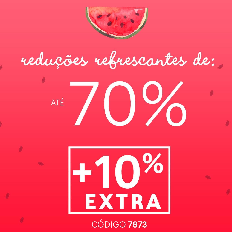 Até 70% + 10% EXTRA