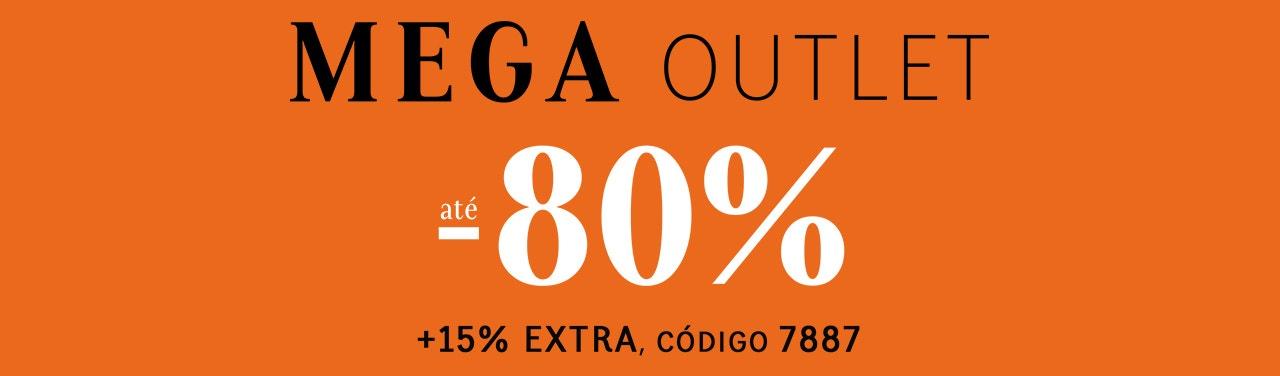 Mega Outlet +15% EXTRA com código 7575