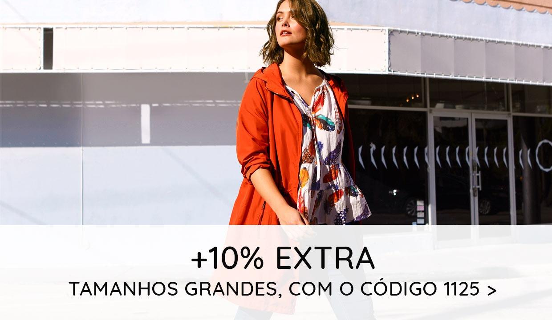 +10% EXTRA Tamanhos Grandes