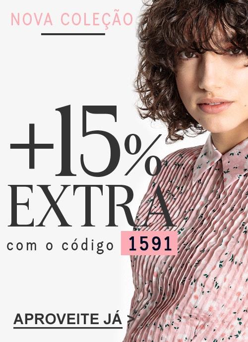 Nova coleção + 15% extra