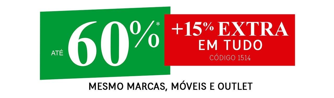 +15% EXTRA em TUDO