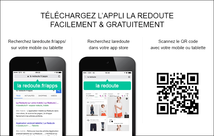 CODE REDUCTION POINT ROUGE LA REDOUTE