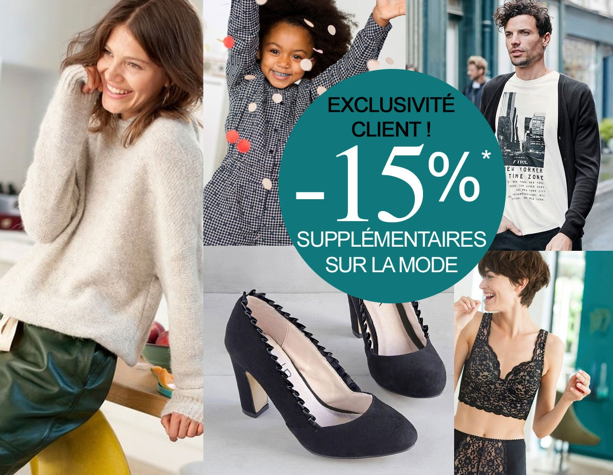 -10% suppl&ecute; sur la mode*