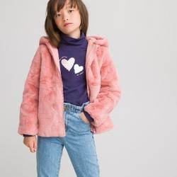 Abrigo suave con capucha, 3-12 años