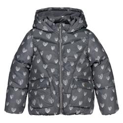 Chaqueta acolchada con capucha y forro polar 3-12 años