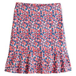 Falda corta con estampado de flores, con volantes