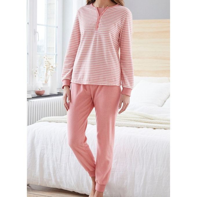 Damart Pantalon de Pyjama Maille Thermolactyl Bas de pijama Femme