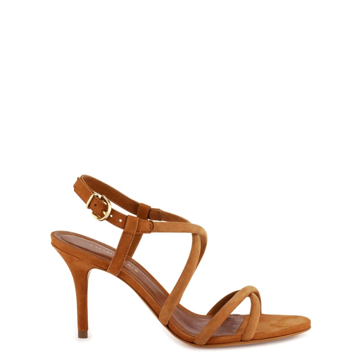Босоножки кожаные AdalinaВерх : кожа   Подкладка : кожа   Стелька : кожа   Подошва : эластомер   Высота каблука : 8 см   Форма каблука : шпилька   Мысок : открытый мысок   Застежка : пряжка<br><br>Цвет: коньячный