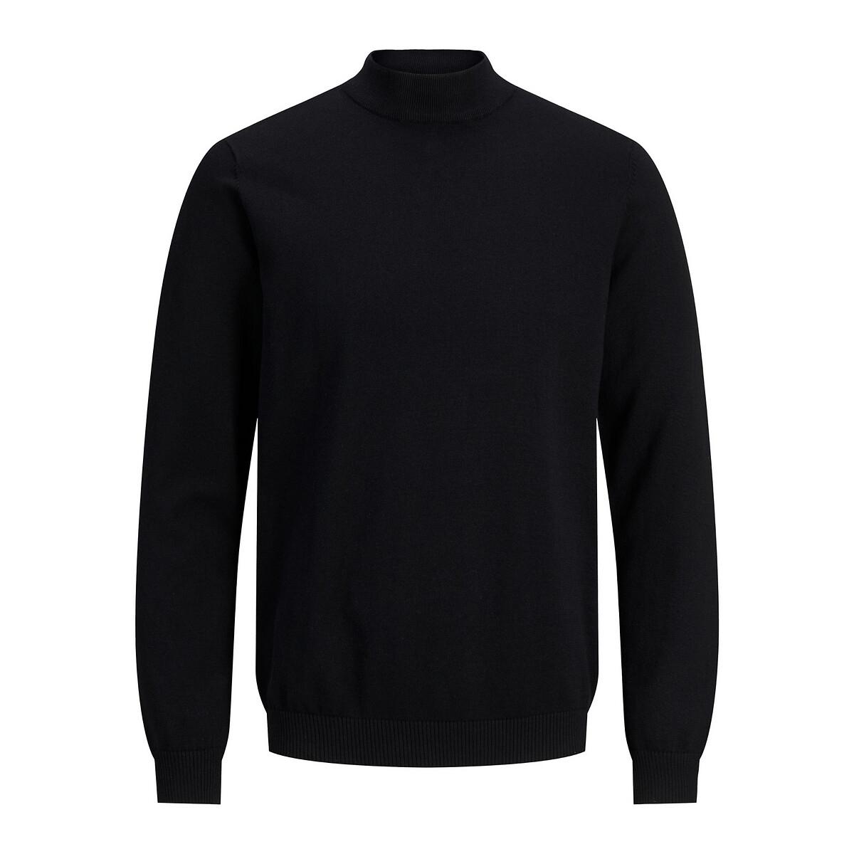 Фото - Пуловер LaRedoute С воротником-стойкой XL черный пуловер laredoute с воротником стойкой из ажурного трикотажа пуантель m каштановый