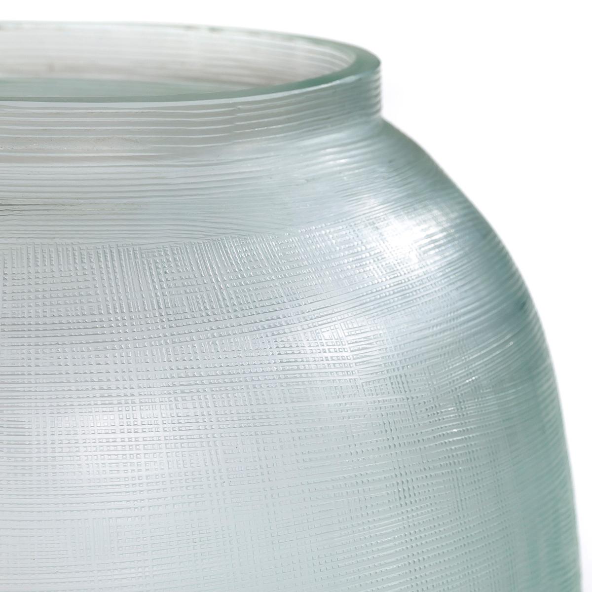 Ваза BirgitНебольшая ваза из стекла с бороздками  .Диаметр 21 x высота 25 см .<br><br>Цвет: небесно-голубой