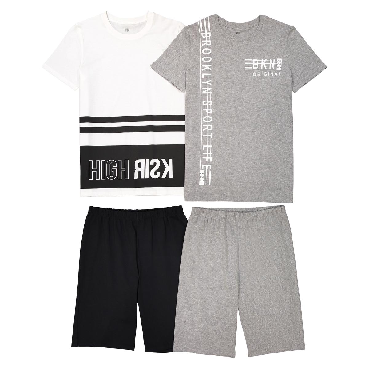 Комплект из двух пижам с шортами с рисунком, 10-16 лет 2 пижамы 10 16 лет