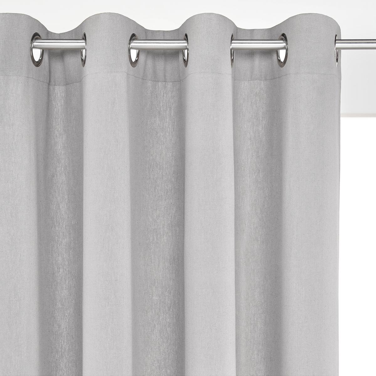 цена на Штора La Redoute С люверсами из льна и хлопка TAMA 220 x 150 см серый