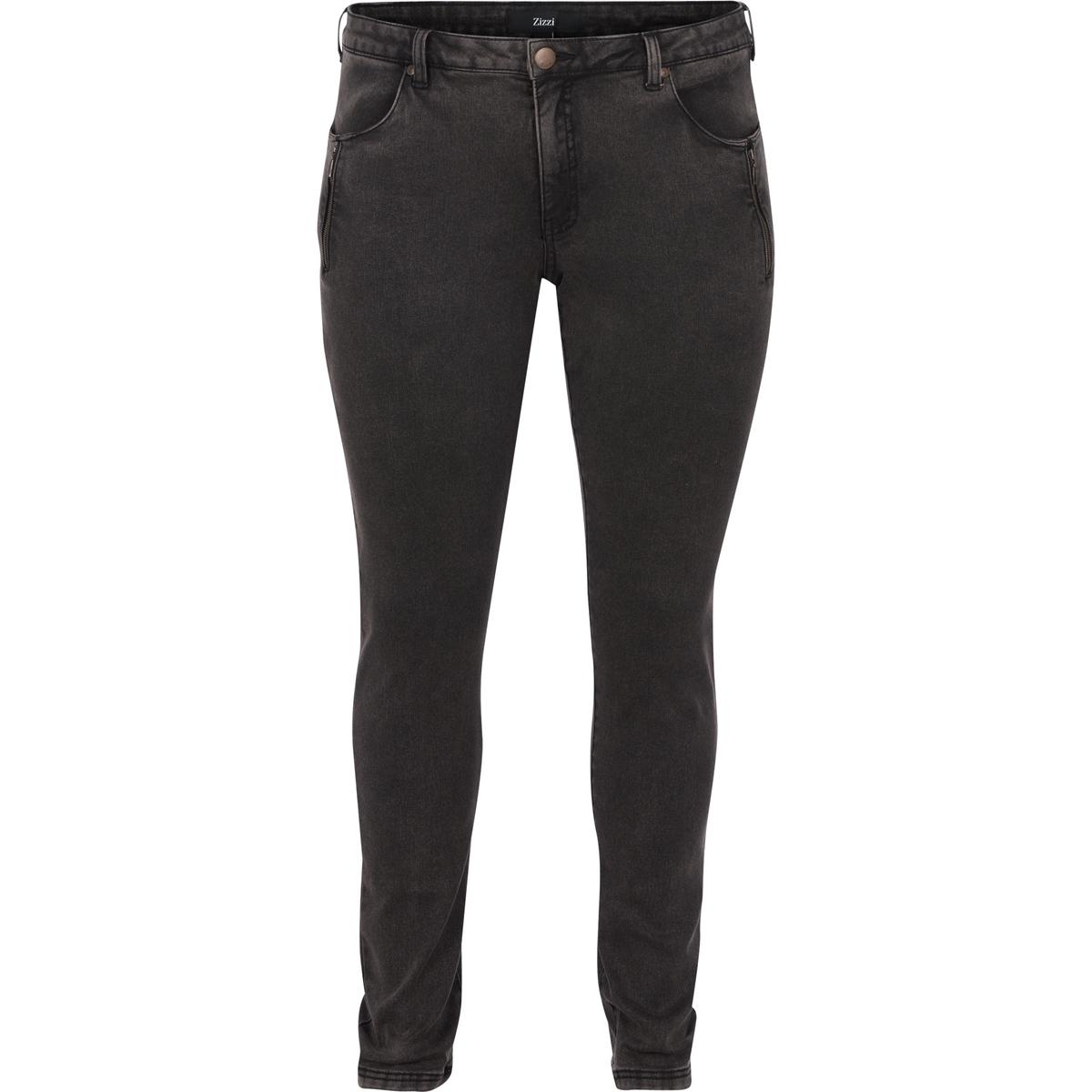 Джинсы узкиеДжинсы узкие ZIZZI. 65% хлопка, 32% полиэстера, 3% эластана.  Материал стрейч . Очень удобная в носке . Эти джинсы имеют 4 кармана, 2 спереди и 2 сзади . Ложная застежка на молнию на карманах спереди<br><br>Цвет: серый<br>Размер: 44 (FR) - 50 (RUS)