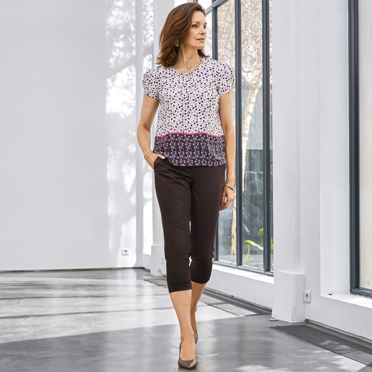 Imagen adicional de producto de Pantalón pesquero, satén de algodón stretch - Anne weyburn