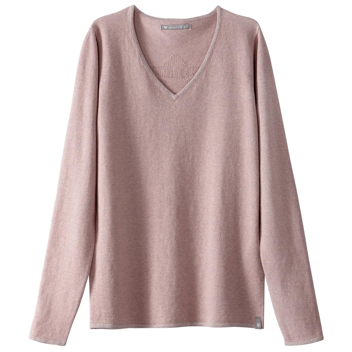Пуловер стандартного покрояДетали •  Длинные рукава  •   V-образный вырез •  Тонкий трикотаж Состав и уход •  5% кашемира, 94% хлопка, 1% других волокон •  Следуйте советам по уходу, указанным на этикетке<br><br>Цвет: розовый