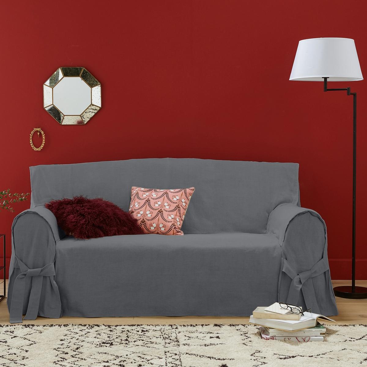 Чехол для диванаКачество VALEUR SURE. Плотная смесовая ткань исключительного качества,  55% льна, 45% хлопка. Общие размеры: общая высота 102 см, глубина сиденья 60 см. Стирка при 40°. Превосходная стойкость цвета к солнечным лучам. 2-местный диван: максимальная ширина 142 см, 2-3-местный диван: максимальная ширина 180 см. 3-местный диван: максимальная ширина 206 см.<br><br>Цвет: антрацит,белый,серо-бежевый,серо-коричневый каштан,серый,экрю<br>Размер: 3 местн..3 местн..2 места.2/3 мест.2 места.2 места.2/3 мест.3 местн..3 местн.