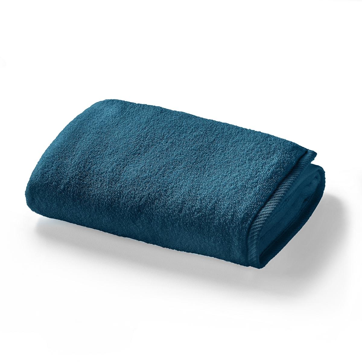 Полотенце La Redoute Махровое 100 хлопок Zro Twist 50 x 90 см синий полотенце proffi home классик цвет шоколадный 50 x 100 см