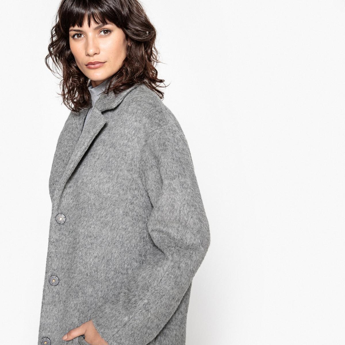 Пальто покроя оверсайз 48 % шерсти