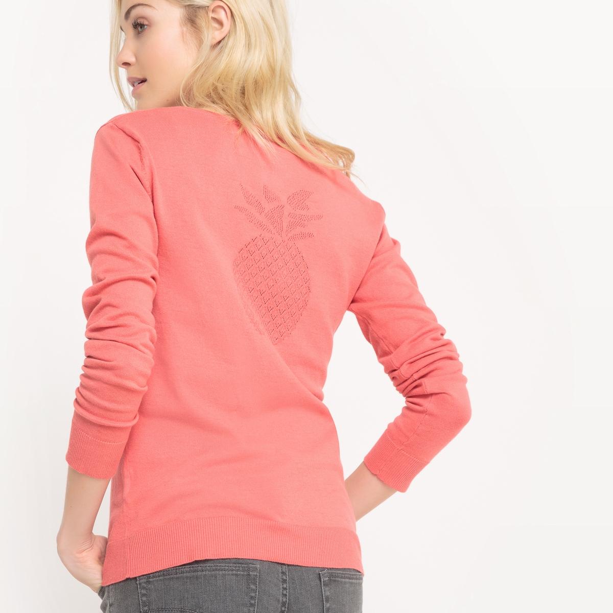 Camisola com decote tunisino, algodão