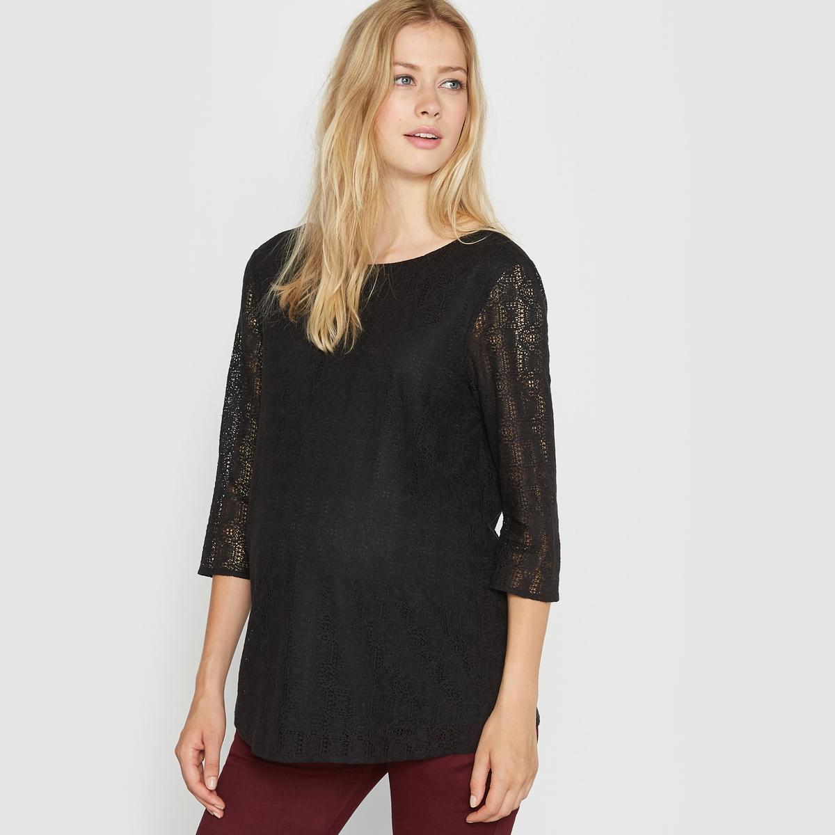 Блузка для периода беременности кружевная