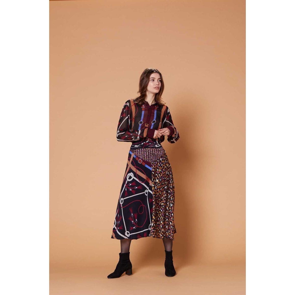 Jupe longue imprimé motif foulard - Okapi
