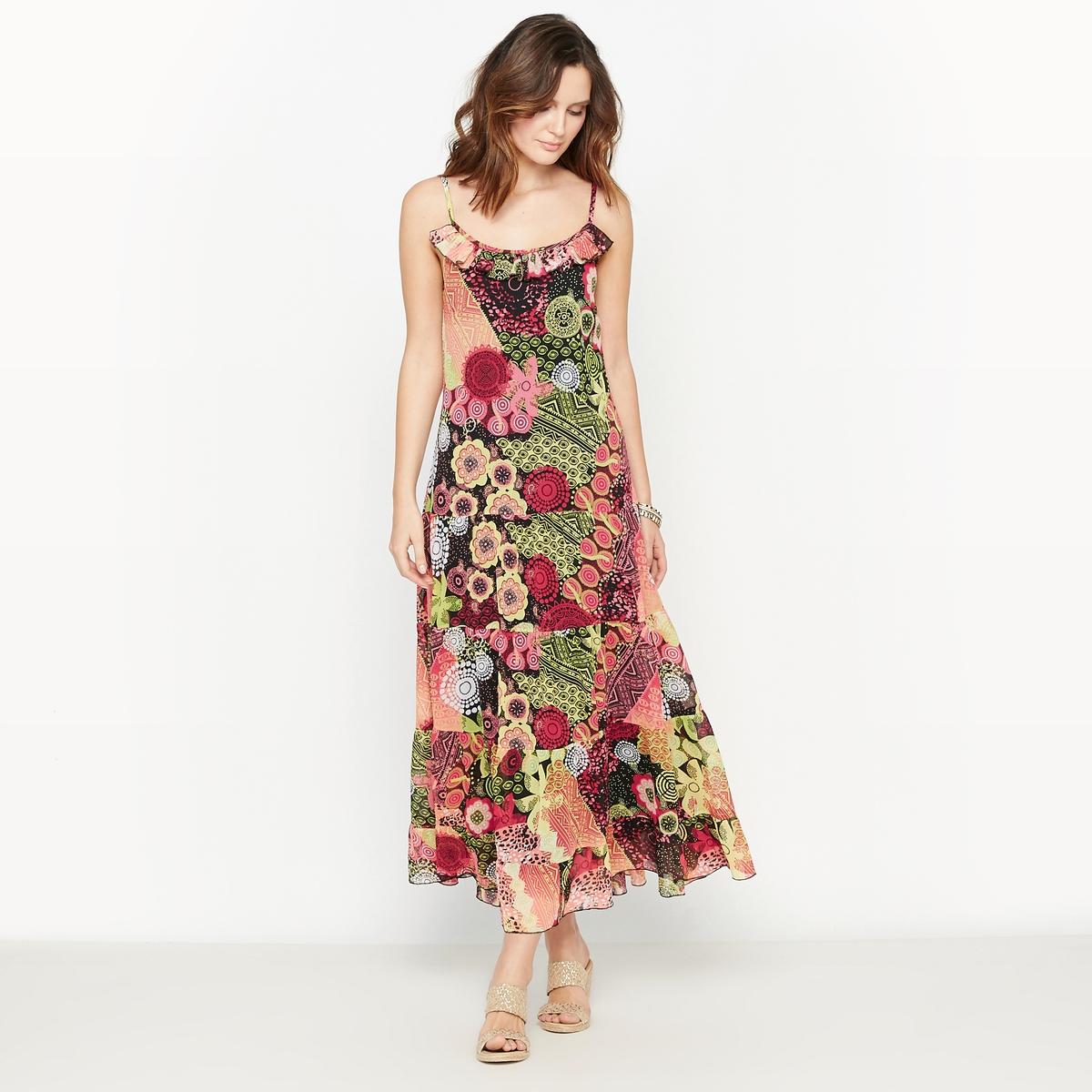Платье с рисунком из вуали