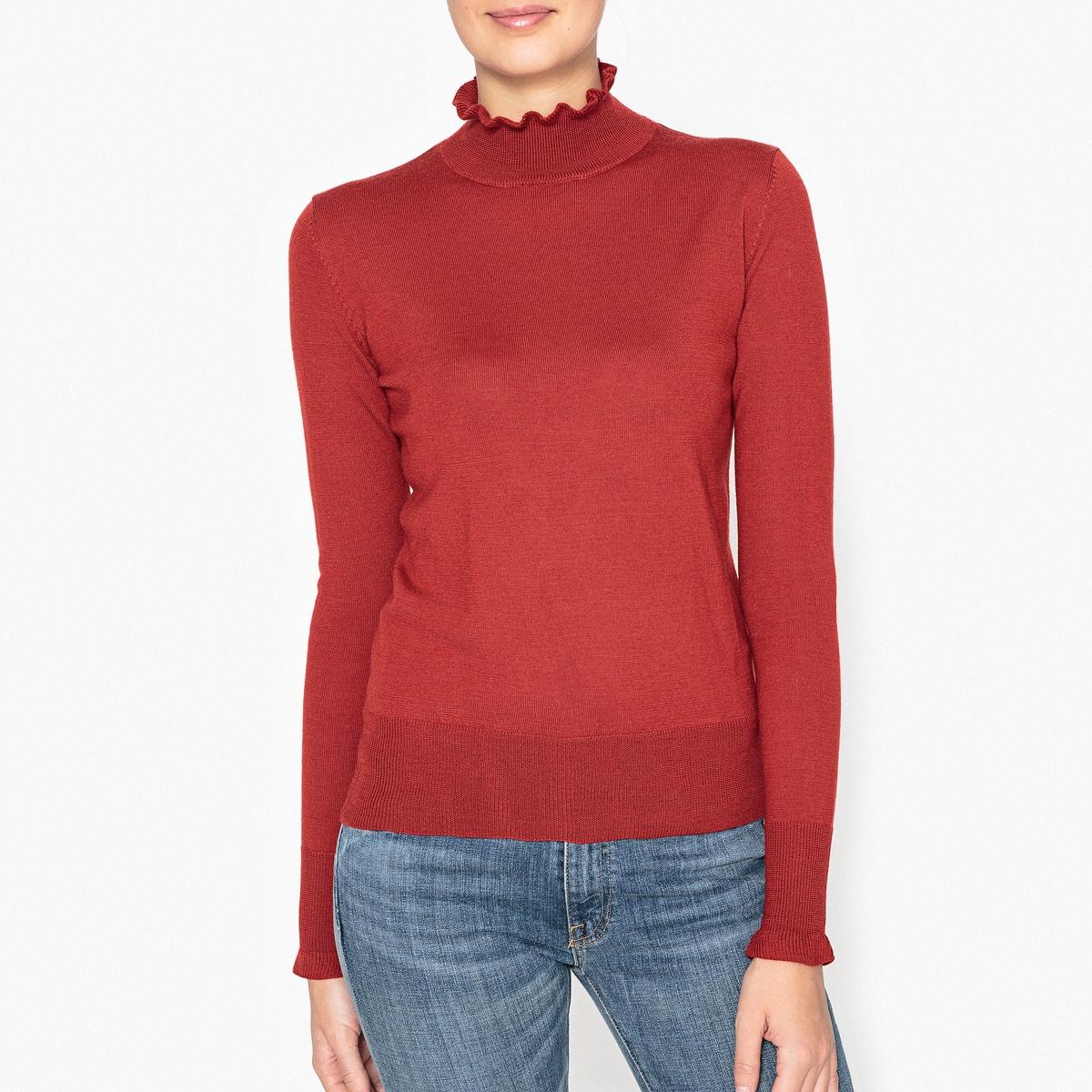 Пуловер из шерсти с высоким воротником AMORTANGO