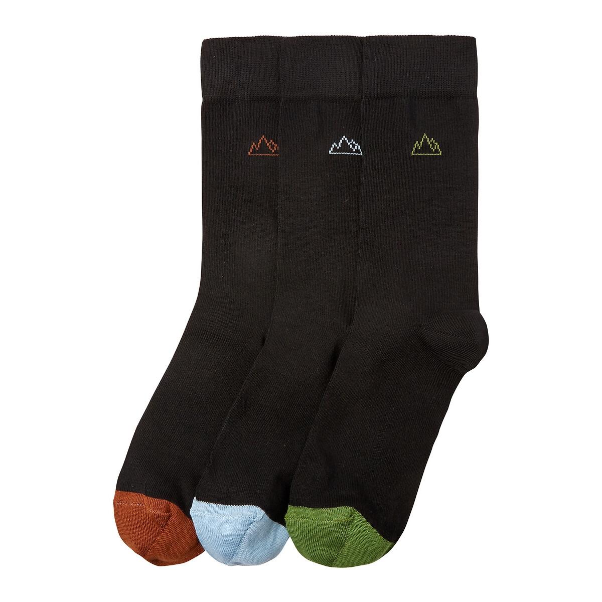 Комплект из 3 пар носков LaRedoute La Redoute 43/46 черный комплект из 6 пар носков la redoute la redoute 39 45 черный