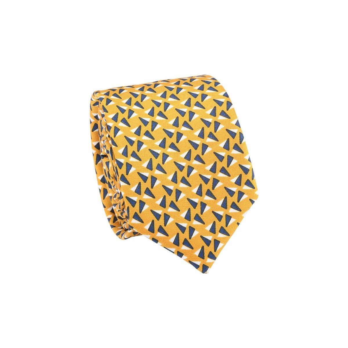 Cravate 100% soie motif triangles