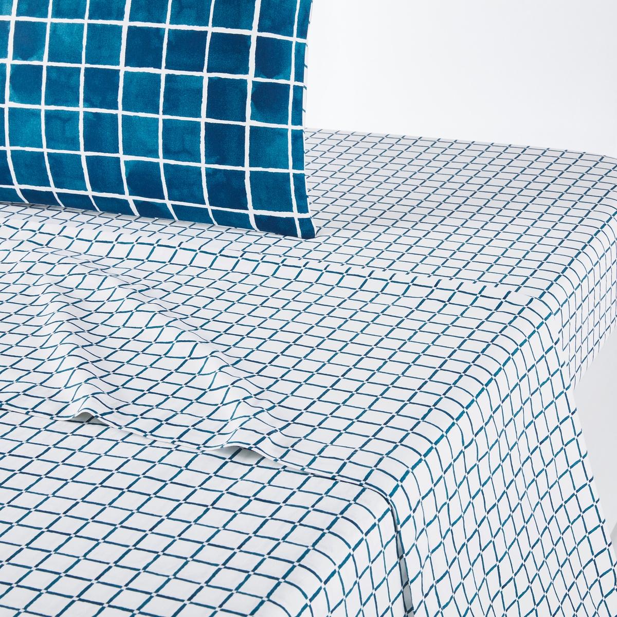 Простыня La Redoute Из 100 хлопка Depht 240 x 290 см синий простыня la redoute из хлопка euzalie 270 x 290 см синий
