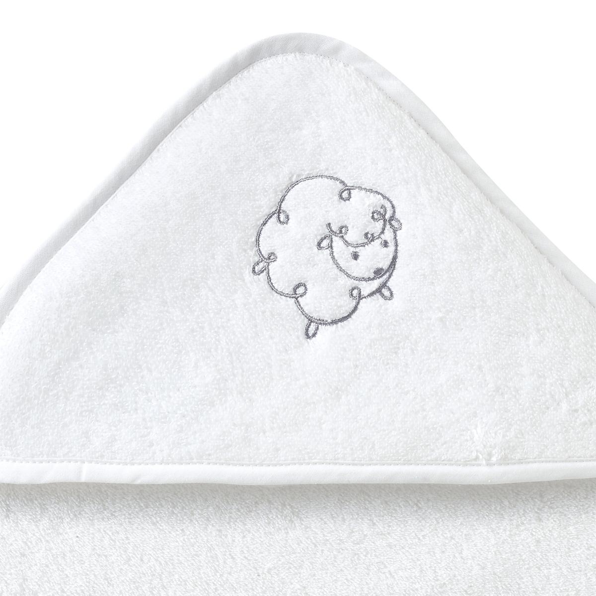 Халат детский из махровой ткани LITTLE SHEEPОписание:Халат и банные рукавички из махровой ткани, 100% хлопок, 420 г/м?, LITTLE SHEEP. Мягкий и пушистый халат с прекрасной впитывающей способностью, чтобы закутывать наших маленьких волчат после купания! Отличный подарок на день рождения!Характеристики халата и банных рукавичек LITTLE SHEEP :Махровая ткань, 100% хлопок, 420 г/м?Вышитый рисунок в виде барашка на капюшоне халата и на рукавичкахОтделка кантом в тон2 размера на выбор : 70 x 70 см - 100 x 100 см Легкий уход - Машинная стирка при 60°Знак Oeko-Tex® гарантирует, что товары прошли проверку и были изготовлены без применения вредных для здоровья человека веществ  Откройте для себя всю коллекцию из махровой ткани LITTLE SHEEP на сайте laredoute.ru<br><br>Цвет: белый,бледно-зеленый,розовый телесный,серо-бежевый