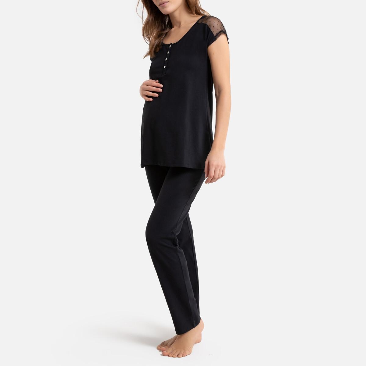 Пижама La Redoute Для беременных и кормящих грудью 34/36 (FR) - 40/42 (RUS) черный трусы la redoute для периода беременности шт 34 36 fr 40 42 rus белый