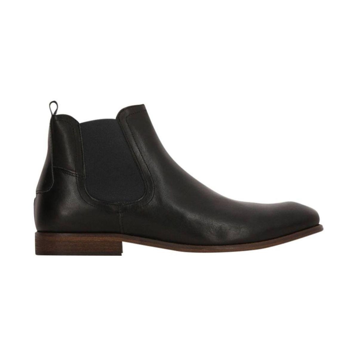 Boots Chelsea En Cuir Lisse