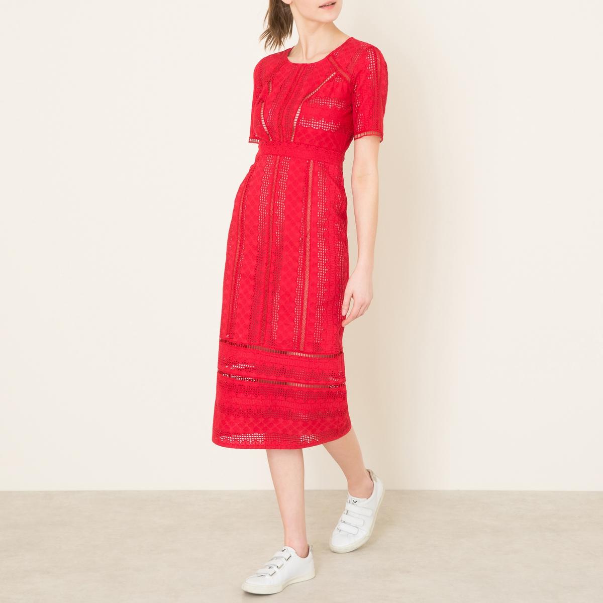 Платье GARETHСостав и описание:    Материал : 100% хлопок    Подкладка из 100% вискозы   Длина ок.118 см. (для размера 36)   Марка : BA&amp;SH<br><br>Цвет: красный<br>Размер: L.M