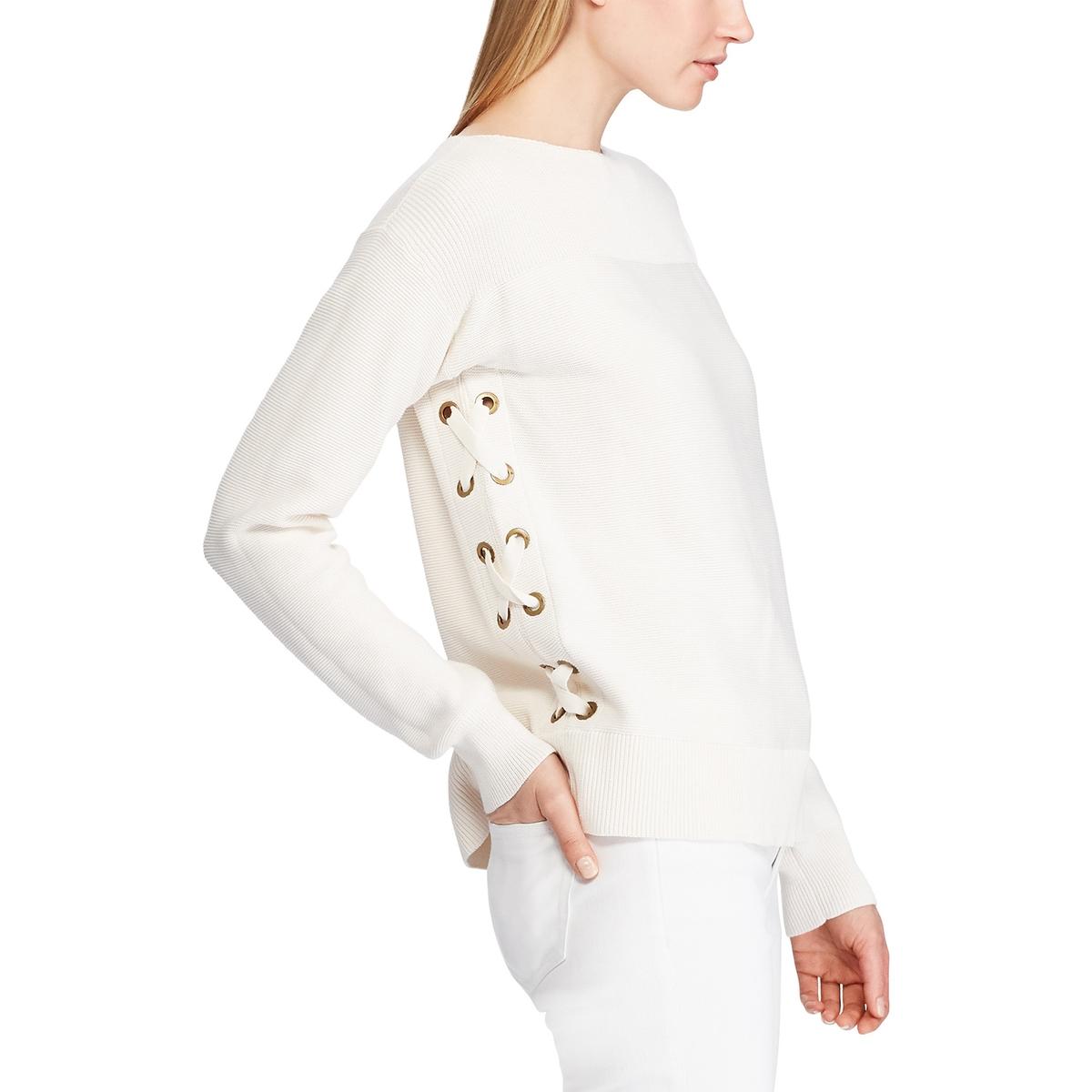 цена на Пуловер La Redoute Из тонкого трикотажа со шнуровкой L бежевый