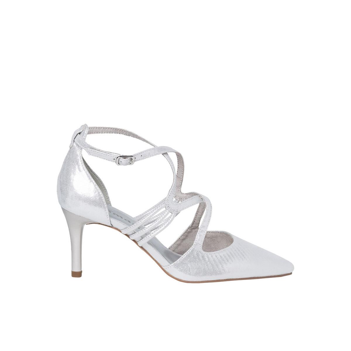 Туфли La Redoute На каблуке-шпильке Seagull 40 серебристый
