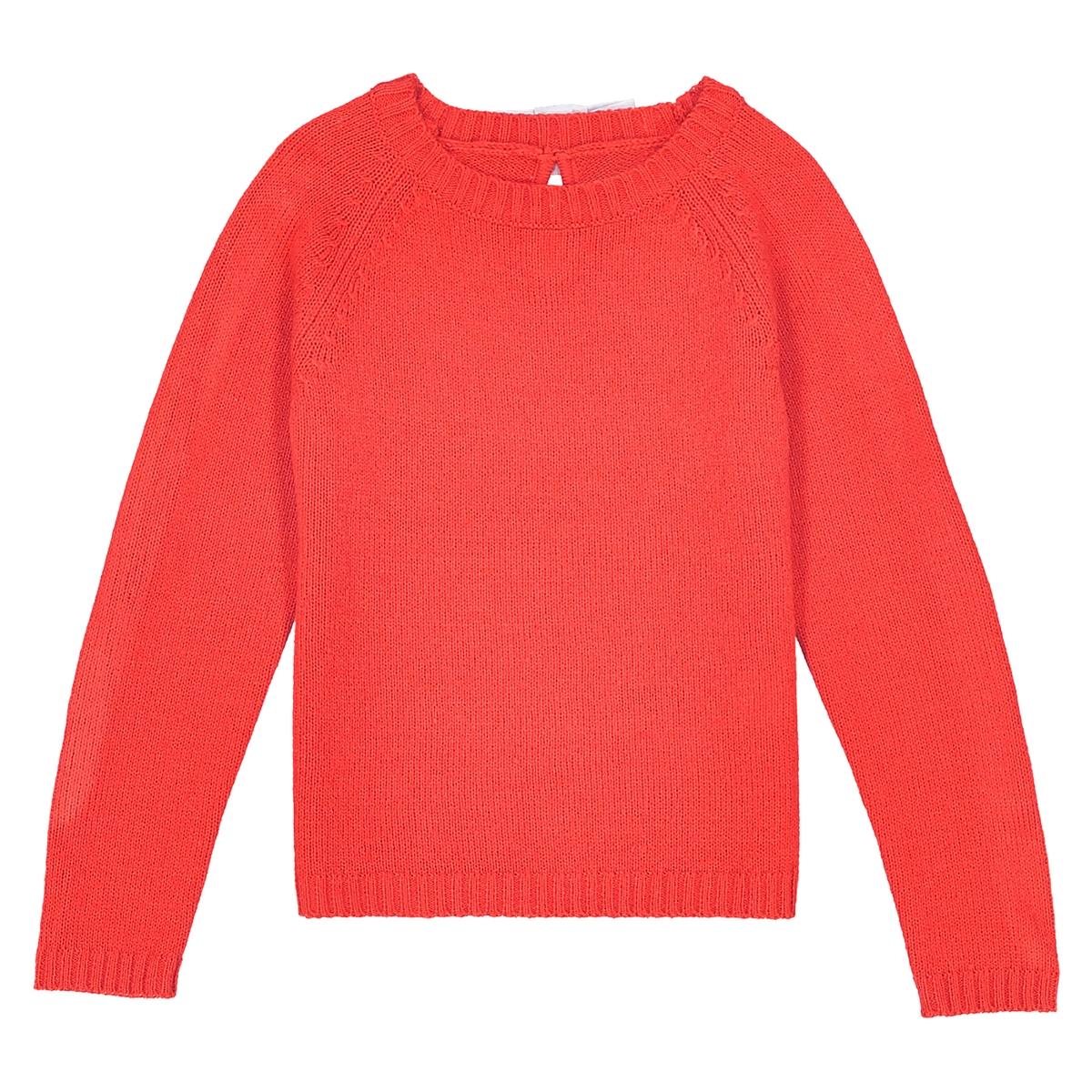 Пуловер с бантиком сзади 3-12 лет